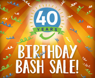 40th Birthday Bash Sale!