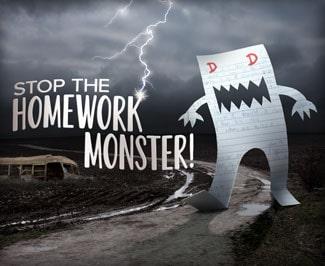 Stop the Homework Monster